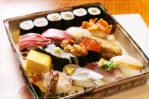 Specially selected nigirizushi